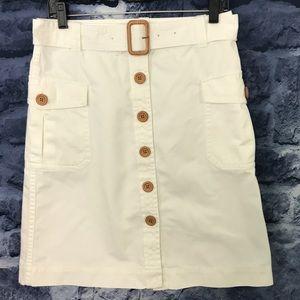 J. Crew Cotton Button Up Skirt w/Belt ⭐️